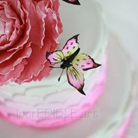 Three butterflies of a Flower by Rumana Jaseel
