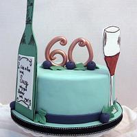 Fine Wine Birthday Cake