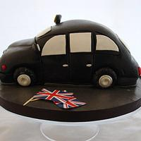 London Black cab vanilla sponge cake