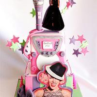 P!nk and karaoke ( My Make a Wish Cake)