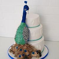 Paddy the Peacock Wedding Cake