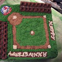 Texas Rangers Anniversary Cake