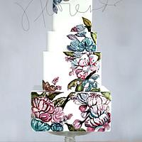 Floral Cake Painting x Jackie Florendo