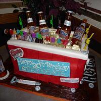 Beer Cooler 3D Cake