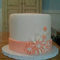 Pink & Peach Cake