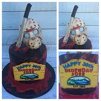 Friday the 13th cake