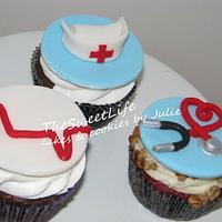 Medical cupcake toppers by Julie Tenlen
