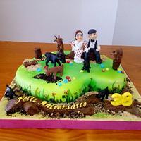 38Th Anniversary cake