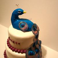Peacock Baby Shower cake