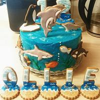 Sealife Cookie Cake