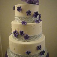 OC Fair Winner - Purple Peony cake