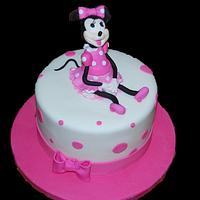 MINIE MOUSE CAKE!!!!