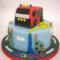Fire Engine Themed Cake