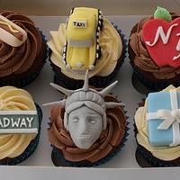 New York theme cupcakes