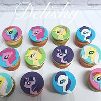 My little pony cupcakes