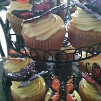 Butterfly cupcakes by Memona Khalid