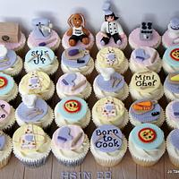 Cooking theme cupcakes