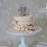 Baby Animals Shower Cake