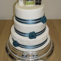 Turqoise Wedding Cake by David Mason