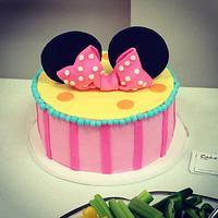 Minnie ears birthday cake