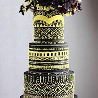 ORCHID LOVE FALL WEDDING CAKE