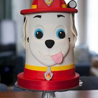 Paw Patrol tower character cake