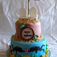 Scuba Diving honeymoon send off cake
