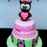 BABY OWL CAKE
