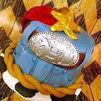 Western Cowboy Smash Cake