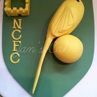Norwich City Football Club birthday cake by Jan