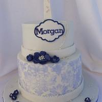 First communion cake by Ilona's Cake Boutique