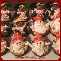 Sinterklaasfeest cupcakes
