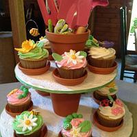 Garden Bugs Cupcakes