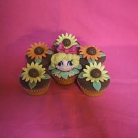 Gerberes' cupcakes by Le Cupcakes della Marina