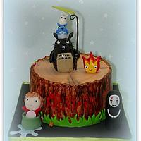 Totoro and friends cake