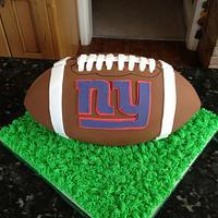 American football cake for a New York Giants fan