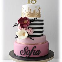 Charming Sofia's cake