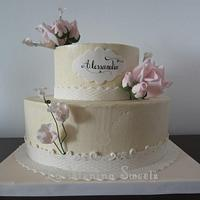 Simple & sweet 15s cake by Cristi