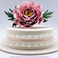 Polly's Peony Stringwork Cake!