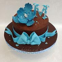 Chocolate and Blue Birthday.