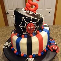 Spiderman Topsy Tuvy Cake