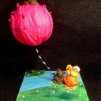Dr Seuss- the lorax gravity defying cake