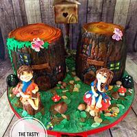 Enchanted pixie fairy garden