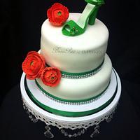 Bridal Shower Shoe Cake