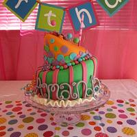 Whimsical Topsy Turvy Birthday Cake by Meredyth Hite