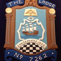 The Elizabethan Lodge Cake and plaque by helen Jane Cake Design