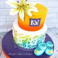 Cake for 30 th birthday