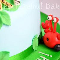 Jungle Junction 1st Birthday Cake by HazelnutBakery