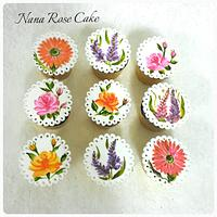 Handpainted cupcake