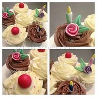 Quick Birthday Cupcakes